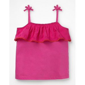 Broderie Tank - Pink Glo