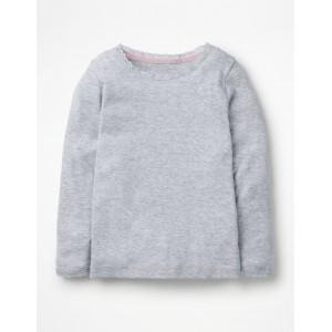 Supersoft Pointelle T-Shirt - Grey Marl