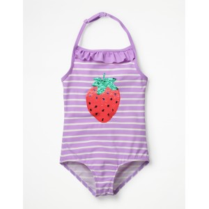 Colour-Change Sequin Swimsuit - Lavender/Ivory Strawberry