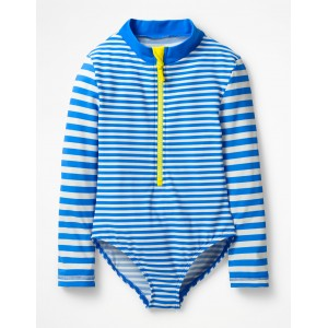 Stripy Long-sleeved Swimsuit