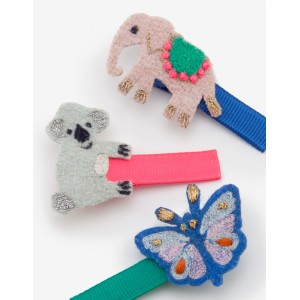 3 Pack Hair Clips - Animals
