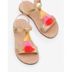 Tassel Sandals - Gold Metallic