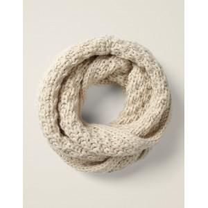 Chunky Knitted Snood - Ecru Marl