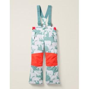 All-Weather Waterproof Pants - Mineral Blue Polar Bears
