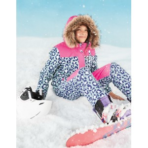 All-Weather Waterproof Pants - Cloudburst Blue Snow Leopard