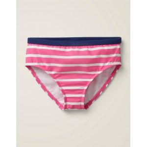 Stripy Bikini Bottoms - Sweet Pink/Ivory