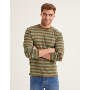 Long Sleeve Stripe T-Shirt - Laurel Wreath/Green Stripe