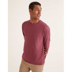 Long Sleeve Washed T-Shirt - Rosewood
