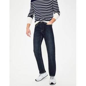 Straight Leg Jeans - Mid Wash Denim