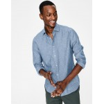 Linen Cotton Shirt - Washed Blue Chambray