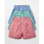 3 Pack Woven Boxers - Summer Gingham Multi Pack