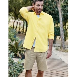 Linen Cotton Shirt - Washed Yellow