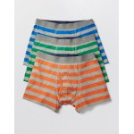 3 Pack Jersey Boxers - Marl Stripe Multi Pack