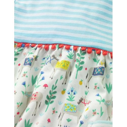 보덴 Printed Jersey Dress - Multi Little Donkey