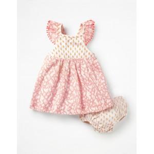 Hotchpotch Woven Dress - Shell Pink Folk Friends