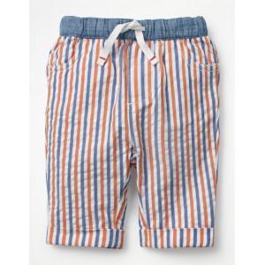 Pull-On Summer Pants - Multi Ticking