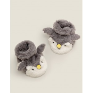 Cosy Slipper Booties - Shale Grey