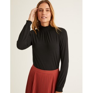 Connie Jersey Top - Black