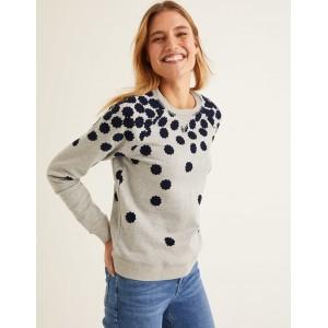 The Sweatshirt - Grey Marl, Floral Flock