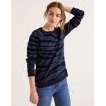 The Sweatshirt - Navy, Flocked Zebra