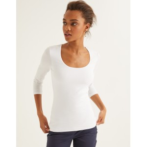Double Layer Front Top - White