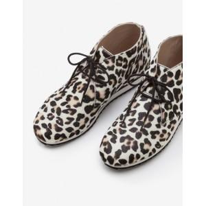 Ashbourne Boots - Ivory Leopard
