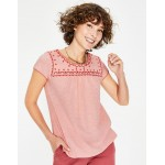 Elisabeth Jersey Top - Chalky Pink