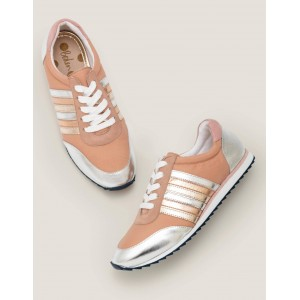 Striped Sneakers - Fawn Rose and Metallic