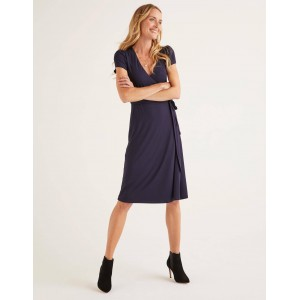 Summer Wrap Dress - Navy