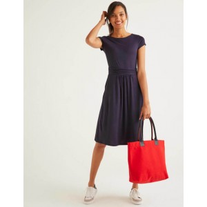 Amelie Jersey Dress - Navy