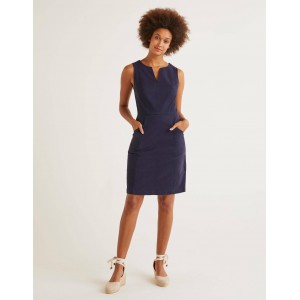 Helena Chino Dress - Navy