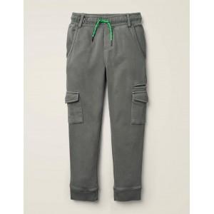 Garment-Dyed Joggers - Smoke Grey