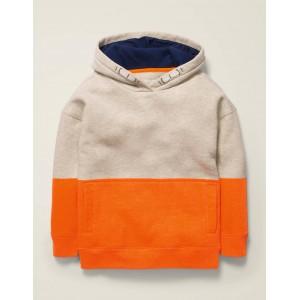 Cosy Drop Shoulder Hoodie - Klaxon Orange