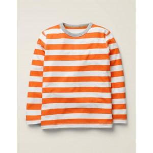Supersoft Long Sleeved T-Shirt - Mandarin Orange/Ivory