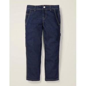 Rib Waist Carpenter Pants - Dark Vintage