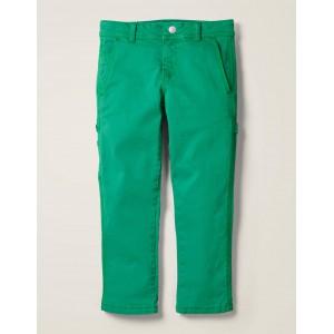 Rib Waist Carpenter Pants - Eden Green