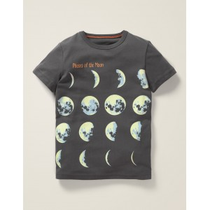 Glowing Planet T-Shirt - Charcoal Grey Planets