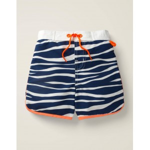 Surf Shorts - College Navy/Ivory Zebra