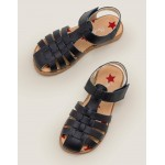Leather Sandals - College Navy