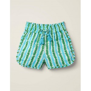 Frill Detail Shorts - Corsica Blue Petal Arrow