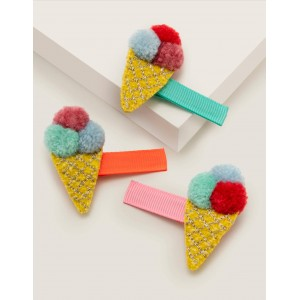 3 Pack Hair Clips - Multi Ice Creams
