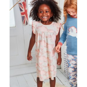 Printed Nightgown - Provence Pink Unicorn Sky