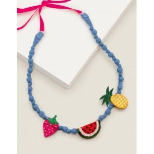 Fabric Necklace - Multi Fruit