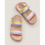 Rainbow Padded Sandals - Multi Rainbow
