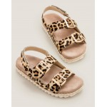 Espadrille Leather Sandals - Leopard