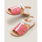 Beach Sandals - Bright Camelia Pink Butterfly