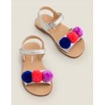 Beach Sandals - Multi Pompoms