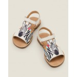 Beach Sandals - White Zebra