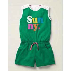 Slogan Jersey Romper - Alpine Green Sunny