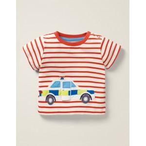 Vehicle Adventures T-Shirt - Cherry Tomato/White